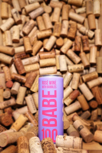 Babe 100 Rose With Bubbles, California 250mL CAN