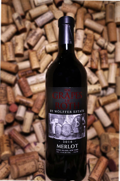 The Grapes of Roth Merlot by Wolffer Estate, Long Island, NY 2016