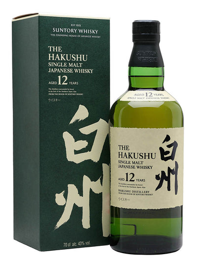 Suntory Hakushu 12 Year Single Malt Japanese Whiskey 750mL