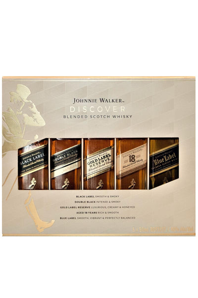 Johnnie Walker Discover Pack 5x50mL set (black, double black, gold, 18, blue) Blended Scotch