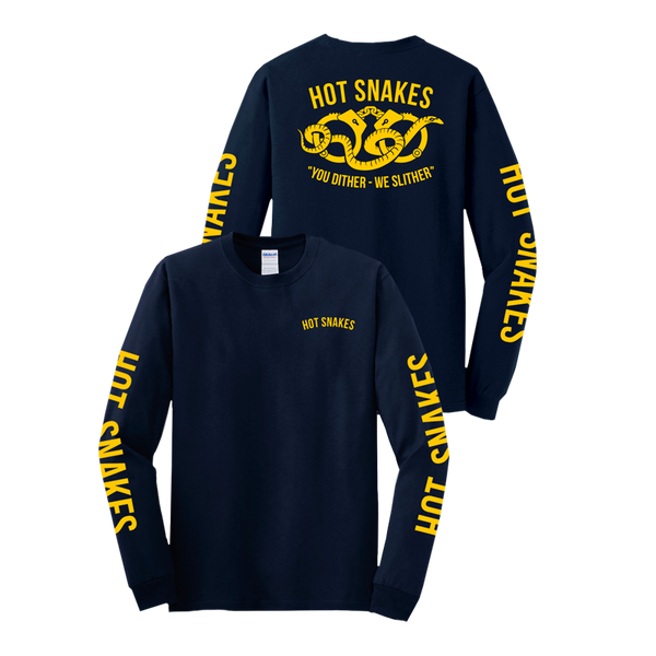 "Hot Snakes ""Slither / Dither"" Navy Long Sleeve"