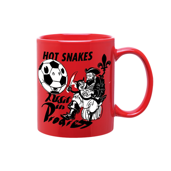 HOT SNAKES 'AUDIT IN PROGRESS' RED COFFEE MUG