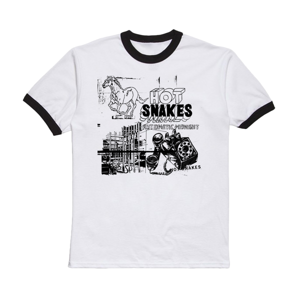 HOT SNAKES 'AUTOMATIC MIDNIGHT' RINGER TEE