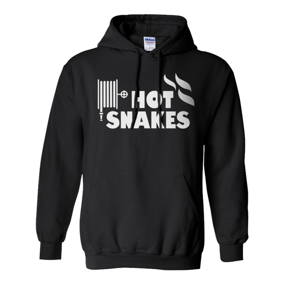 HOT SNAKES 'LOGO' BLACK PULLOVER HOODIE