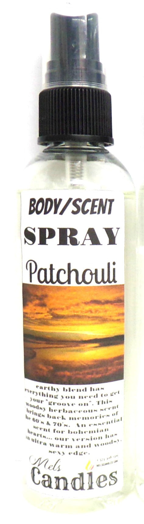 Patchouli 4 Ounce Bottle of Body Spray Scent Spray Room Spray