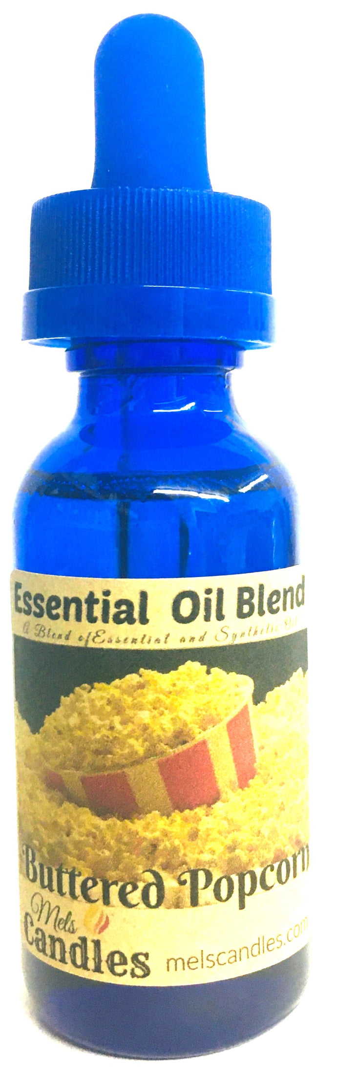 Buttered Popcorn 1 Ounce Glass Dropper Bottle of Fragrance / Essential Oil Blend