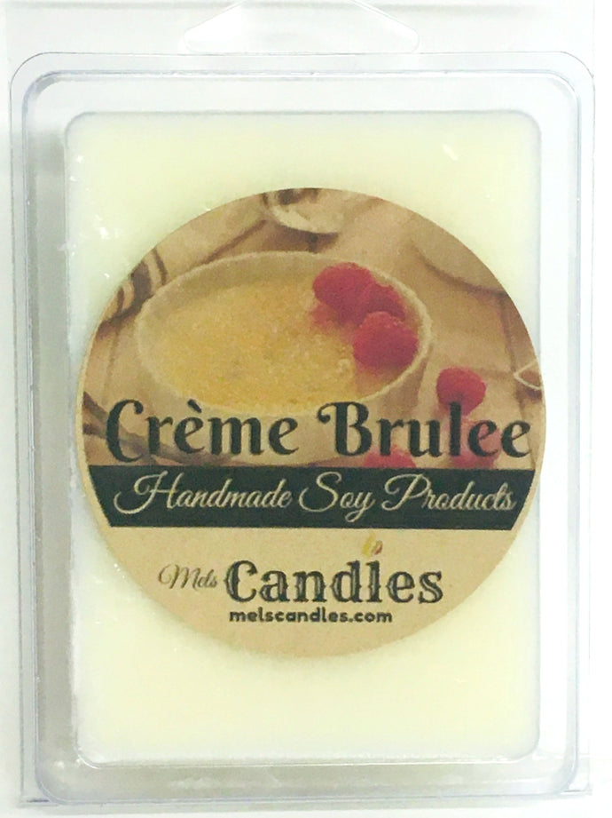 Creme Brulee - 3.4 Ounce Pack of Soy Wax Tarts - Mels Melts