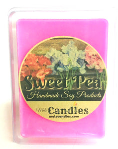 Sweet Pea 3.4 Ounce Pack of Soy Wax Tarts - Mels Melts