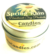 Load image into Gallery viewer, Spring Rain 4 Ounce All Natural Handmade Soy Candle Tin
