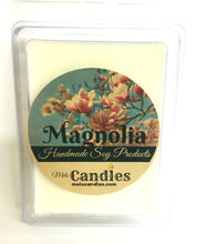 Load image into Gallery viewer, Magnolia 3.2 Ounce Pack of Soy Wax Tarts (6 Cubes Per Pack)- Scent Brick, Wickless Candle