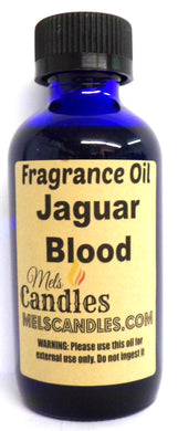 Jaguar Blood 4 Ounce Blue Glass Bottle of Fragrance Oil