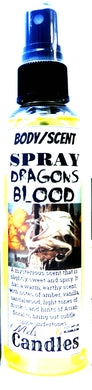 Dragons Blood 4oz Blue Bottle of Scent Spray - Body Spray Room Spray Dragons Blood Aroma - mels-candles-more