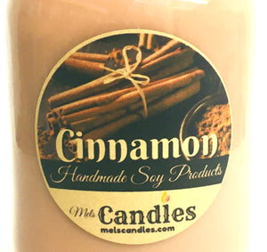 Cinnamon 16 Ounce Country Jar Soy Candle- Handmade in Rolla Missouri