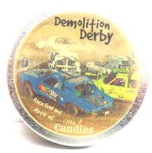 Load image into Gallery viewer, Demolition Derby 4 Ounce 100% Soy Candle Tin 100% Handmade