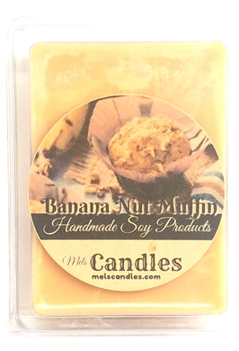 Banana Nut Muffin -3.4 Ounce Pack of Soy Wax Tarts - Mels Melts