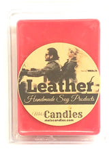 Load image into Gallery viewer, Leather 3.4 Ounce Pack of Soy Wax Tarts - Mels Melts