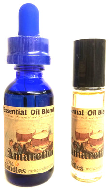 COMBO - AMARETTO 1 ounce Bottle of Fragrance Oil and  Roll-On Bottle