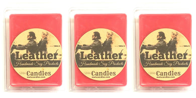 COMBO 3 Packs of Leather 3.4 Ounce Pack of Soy Wax Tarts