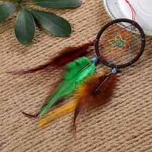 Load image into Gallery viewer, Multi Colored Dream Catcher - Small and Beautiful - Brown Hoop