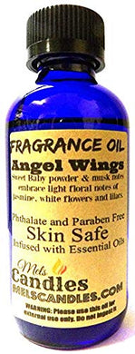 Angel Wings 4 Ounce    118.29 ml Glass Bottle of Premium Fragrance   Perefume Oil - mels-candles-more