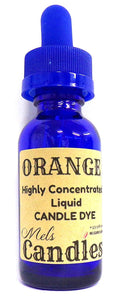 Orange Liquid Candle Dye  - 1 Ounce Glass Dropper Bottle