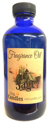 Sage 4 Ounce Glass Bottle of Premium Fragrance - essential oil blend