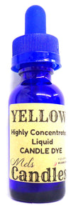Yellow Liquid Candle Dye  - 1 Ounce Glass Dropper Bottle