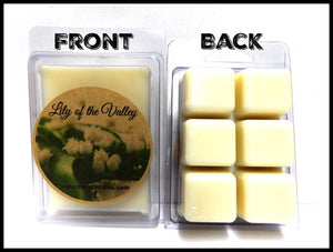 Lily of the Valley 3.2 Ounce Pack of Soy Wax Tarts - Scent Brick, Wickless Candle - mels-candles-more