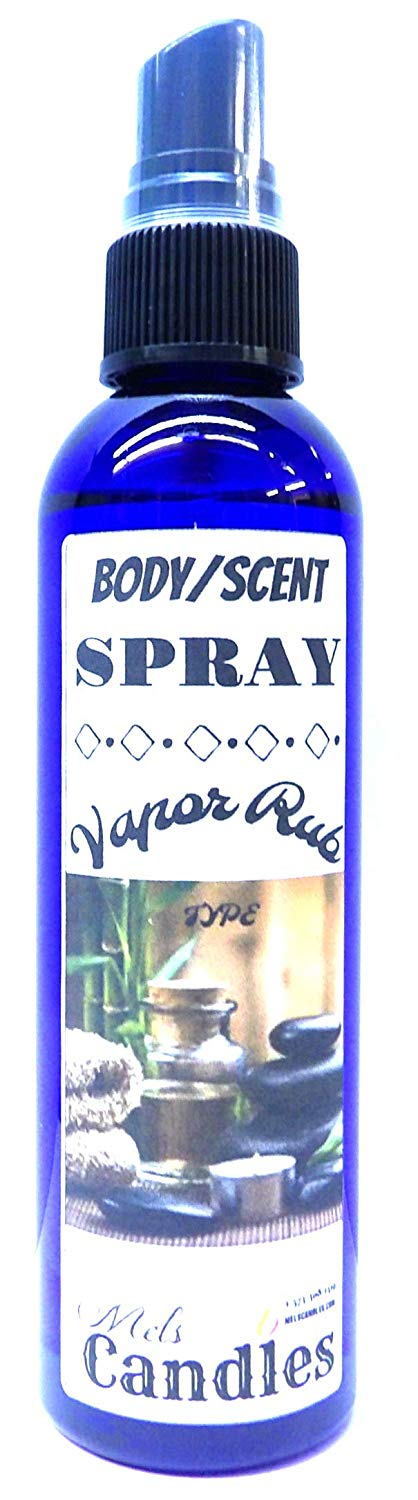 Vicks Vapor Rub Type -4oz Bottle of Scent Spray, Body Spray - mels-candles-more