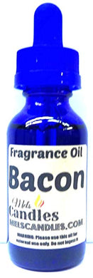 Bacon Premium Grade A Quality Fragrance Oil, 1oz GLASS Bottle - Skin Safe Oil, candles, soap and More - mels-candles-more