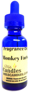 Mels Candles and More Monkey Farts 1oz 29.5ml Blue Glass Bottle Premium Grade Fragrance Oil (Fun and Fruity) Fragrance Oil - mels-candles-more