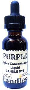 Purple 1 Ounce Bottle of Highly Concentrated Liquid CANDLE Dye - mels-candles-more