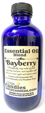 Bayberry 8 oz 236.58 ml Blue GLASS Bottle of Premium Grade A Fragrance Essential Oil Blend. - mels-candles-more