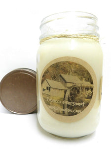 Tobacco and Bergamot 16 Ounce Country Jar 100% Soy Candle - Handmade in USA - mels-candles-more