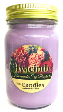 Hyacinth 16 Ounce Country Jar 100% Soy Candle - Handmade in USA