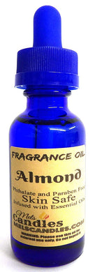 Almond 1oz   29.5 ml Blue Glass Bottle of Premium Grade Fragrance Oil, Skin Safe Oil, Candles, Lotions Soap and More - mels-candles-more