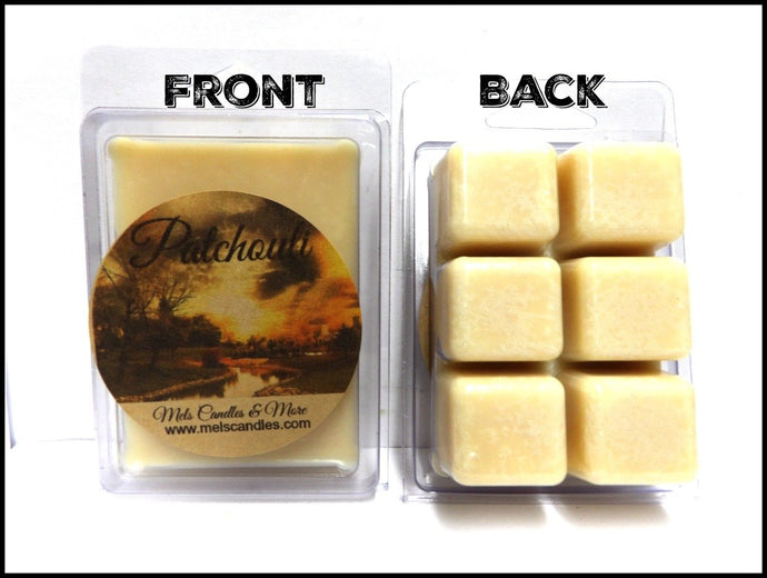 Patchouli 3.2 Ounce Pack of Soy Wax Tarts (6 Cubes Per Pack) - Scent Brick - mels-candles-more