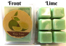 Load image into Gallery viewer, Baja Lime Pack of 3.2oz Soy Wax Tarts (6 Cubes Per Pack) Wax Melts - mels-candles-more