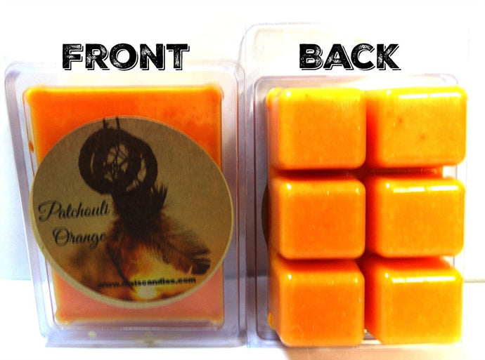 Patchouli and Orange 3.2 Ounce Pack of Soy Wax Tarts - Scent Brick, Wickless Candle - mels-candles-more