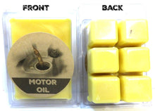 Load image into Gallery viewer, Motor Oil 3.2 Ounce Pack of Soy Wax Tarts (6 Cubes Per Pack) - Scent Brick, Wickless Candle - mels-candles-more