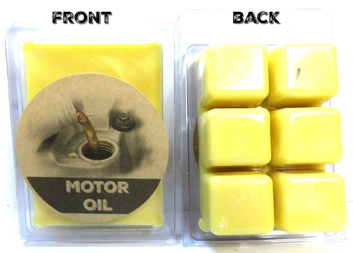 Motor Oil 3.2 Ounce Pack of Soy Wax Tarts (6 Cubes Per Pack) - Scent Brick, Wickless Candle - mels-candles-more