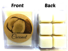 Load image into Gallery viewer, Coconut 3.2 Ounce Pack of Handmade Soy Wax Tarts - Scent Brick, Wickless Candle - mels-candles-more