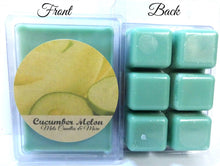 Load image into Gallery viewer, Cucumber Melon - 3.2 Ounce Pack of Soy Wax Tarts - Scent Brick - Wickless Candle Tart Warmer Wax - mels-candles-more