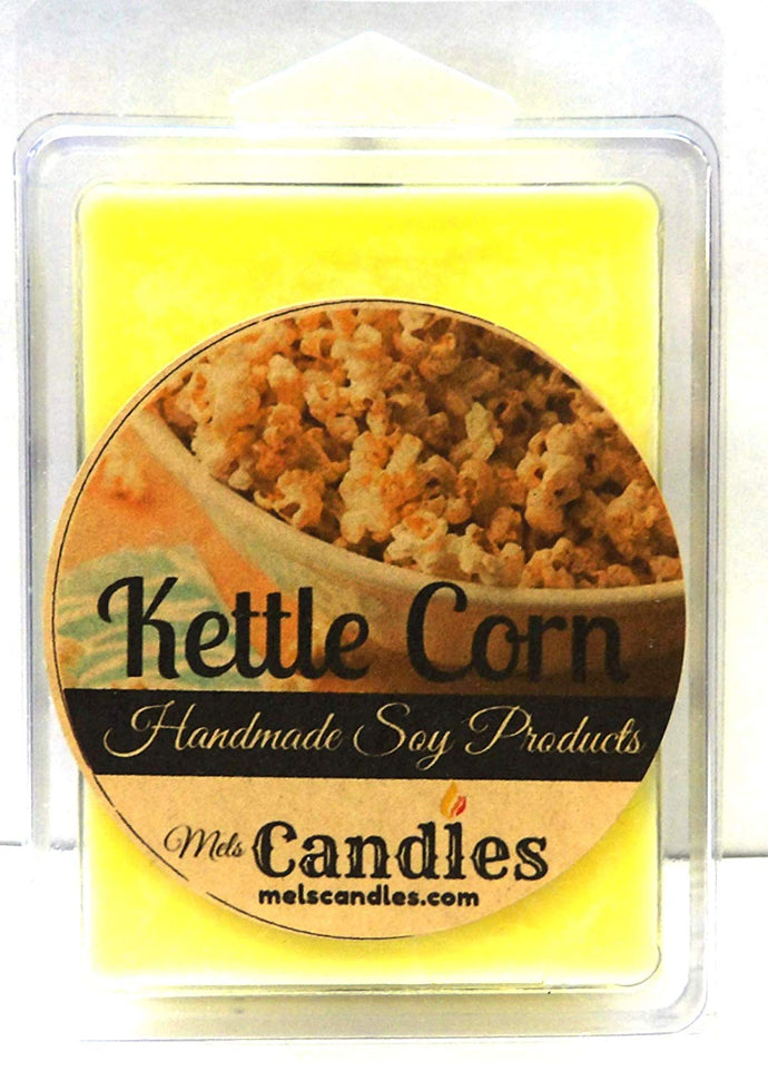 Kettle Corn - 3.4 Ounce Pack of Soy Wax Tarts - mels-candles-more