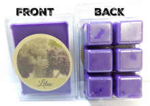 Load image into Gallery viewer, Lilac 3.2 Ounce Pack of Soy Wax Tarts (6 Wax Cubes Per Pack) - Scent Brick, Wickless Candle - mels-candles-more
