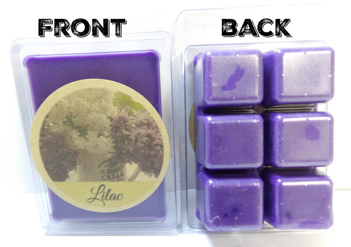 Lilac 3.2 Ounce Pack of Soy Wax Tarts (6 Wax Cubes Per Pack) - Scent Brick, Wickless Candle - mels-candles-more