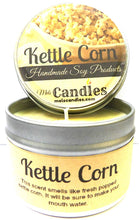 Load image into Gallery viewer, Kettle Corn 4 oz All Natural Soy Candle Tin (Take It Any Where) - mels-candles-more