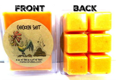 Chicken S#@t 3.2 Ounce Pack of Soy Wax Tarts - Scent Brick, Wickless Candle - mels-candles-more