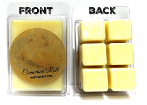 Cinnamon Roll and Vanilla -3.2 OuncePack of Soy Wax Tarts - Scent Brick, Wax Melts - mels-candles-more