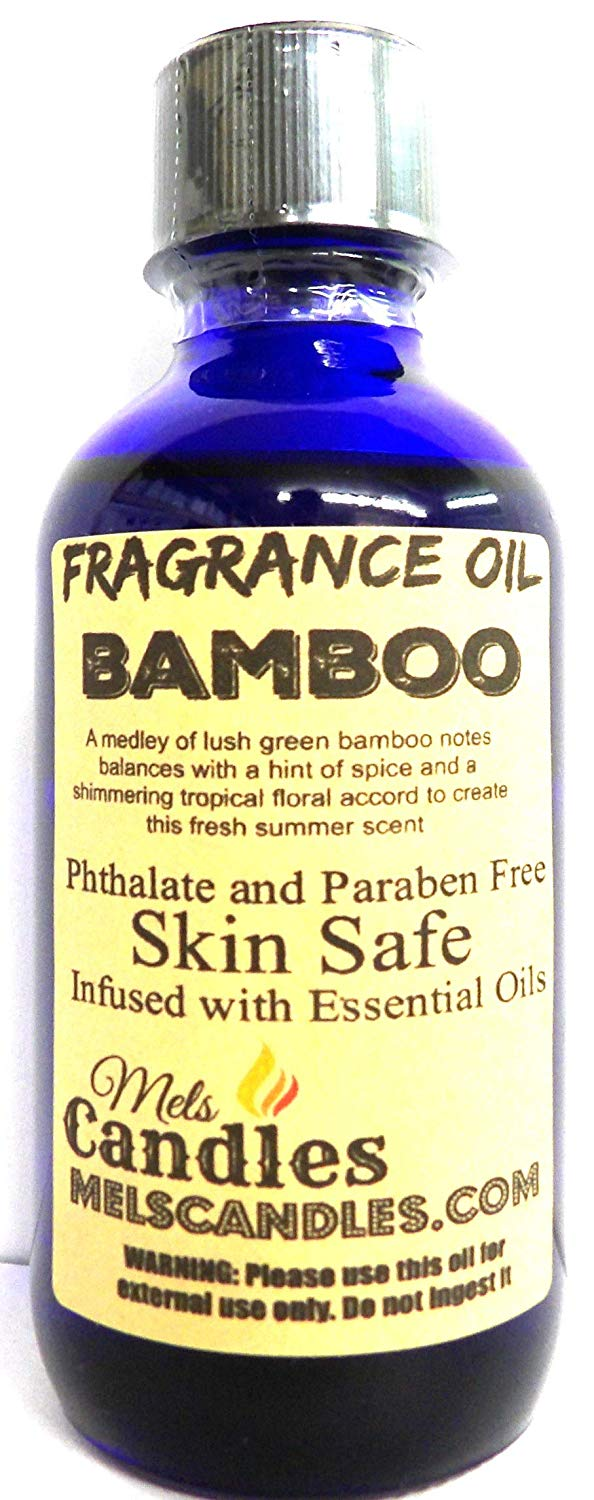 Bamboo  4 Ounce    118.29 ml Glass Bottle of Premium Fragrance   Perefume Oil - mels-candles-more